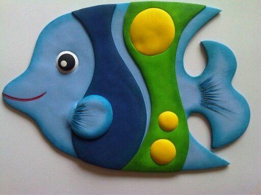Peces_Figuras de animales elaboradas con Foamy para decorar fiestas de cumpleaños, diferentes espacios y ocasiones especiales!