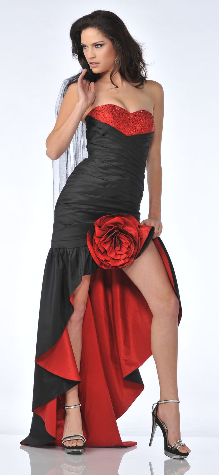 Flamenco style evening dress uk