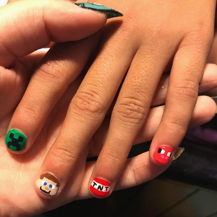 MineCraft Nail Art