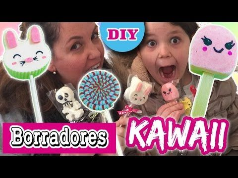 BORRADORES caseros KAWAII * Gomas de borrar PARA REGALAR - YouTube