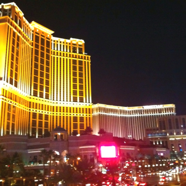 Vegas at night. Great architecture