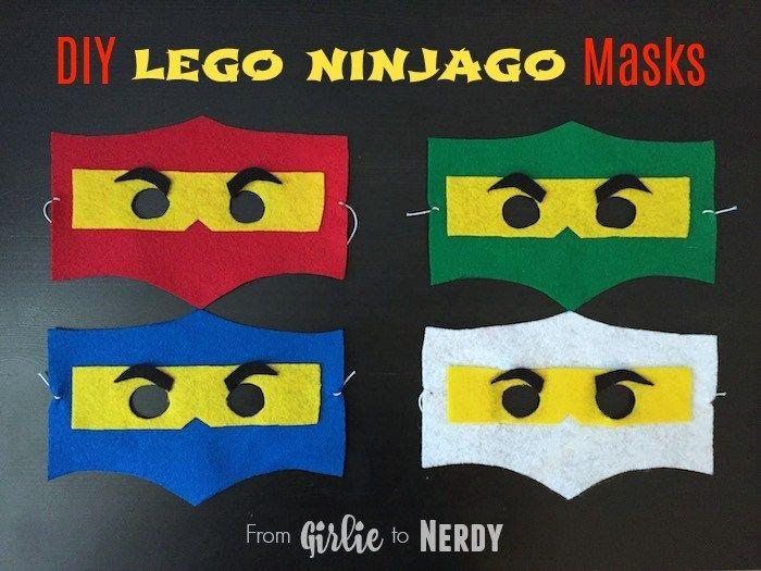 DIY Lego Ninjago Masks with Free Template