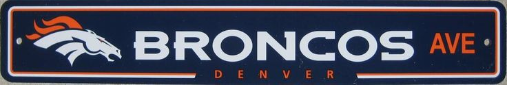 Denver Broncos Ave Street Sign