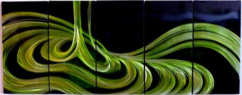 """Aluminium Metal Wall Art Sculpture Decor Modern Abstract Ready to Hang  """"WOW"""" Your Visitors with this Stunning Colorful Abstract Metal Wall Art which will look Fabulous in Any Room...  Isn't it time you purchased something New for the Home?  This artwork is created by artists, who use a special tool to grind and engrave the lines onto the panel then, by indenting the metal after grinding. it creats a 3D effect. Total weight of each piece is approx 900 grams"""