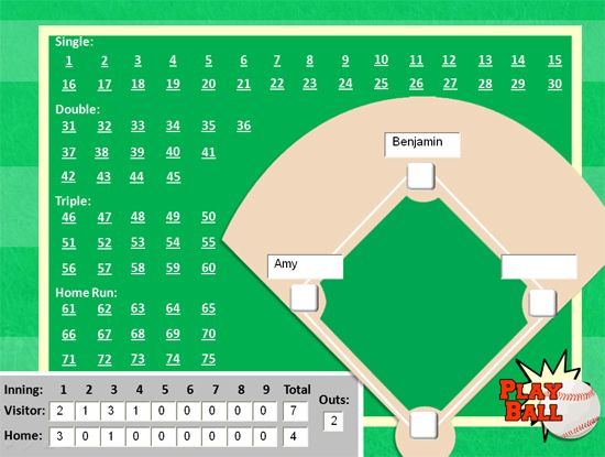 Baseball game PowerPoint template -- Great for whole-class review!