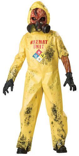 Hazmat Hazard Scary Kids Costume 2013 Aidans