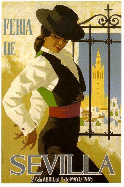 (NON DISPONIBLE) affiche Séville Foire d'Avril - 1965 (SPECIAL TRADE)   par bogdanovskaya_trade