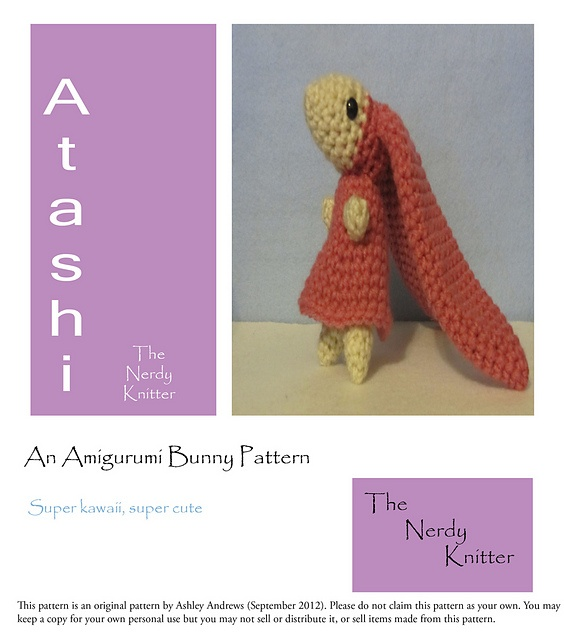 Ravelry: Atashi from Chobits Amigurumi Pattern pattern by The Nerdy Knitter