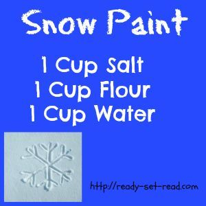 Recipe for Snow Paint