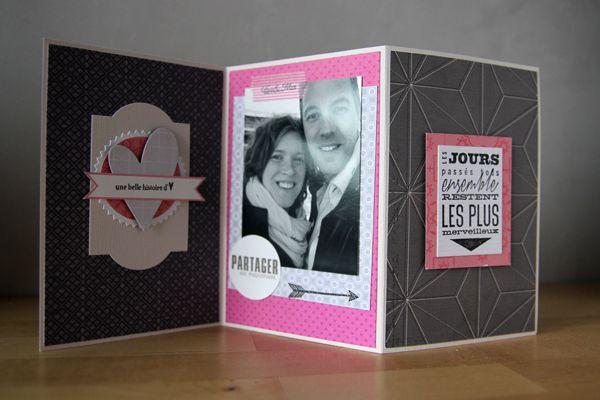 Id e carte mini album st valentin de mylen chez kesi 39 art - Idee deco album photo ...