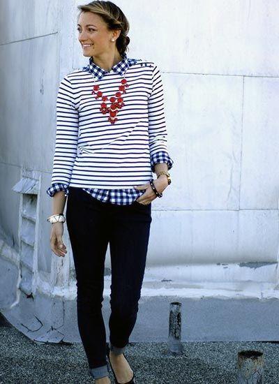 ギンガムチェックシャツの着こなし・コーデ一覧【レディース】 | MILANDA
