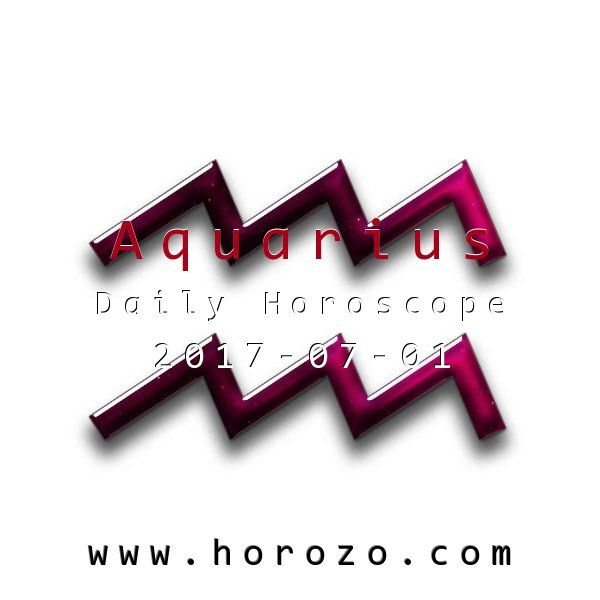 Aquarius Daily horoscope for 2017-07-01: You've got a free day (of sorts), and you know that you've got some personal issues lingering that need to be addressed. Your great energy helps you tie up loose ends and get on with life.. #dailyhoroscopes, #dailyhoroscope, #horoscope, #astrology, #dailyhoroscopeaquarius