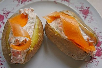 Folienkartoffeln mit Möhren-Kräutersoße (Rezept mit Bild) | Chefkoch.de