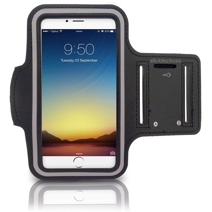 "Premium Running Armband iPhone 6S + Screen Protector by SlickTechUSA 6 (4.7"") Sports Armband 