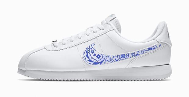 Bandana Fever Royal Blue Bandana Print Custom White Nike ...