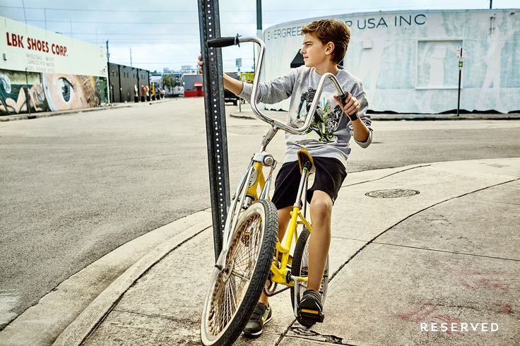Reserved Kids SS16 #street#bike#jumper#grey#print