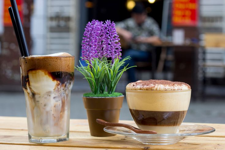 Yogurt and egg coffees from Cham Coffee are a must try in Hanoi. #gosquab #travel #coffee #eggcoffee #vietnam #hanoi