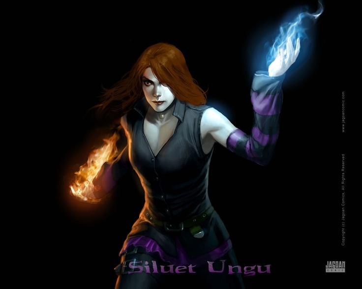 Siluet Ungu - Violet - Indonesian Comic Heroine