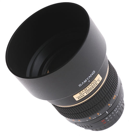 Samyang 85 mm f/1.4 IF MC Aspherical  High quality lens intended for portrait shooting and designed especially for photographers seeking the best possible image parameters.