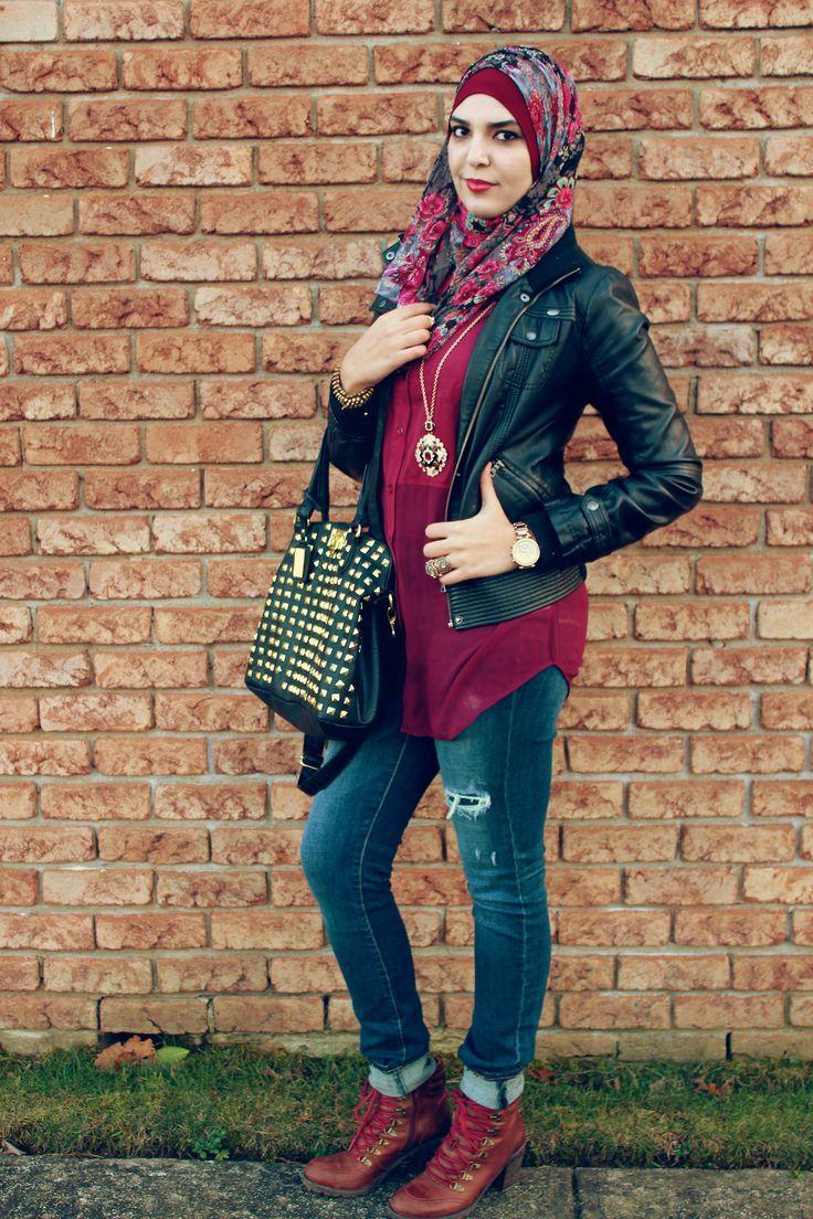 Leather jacket hijab - Hijab For Life Lovenerdeen Throughaliyahseyes Ok So I Need
