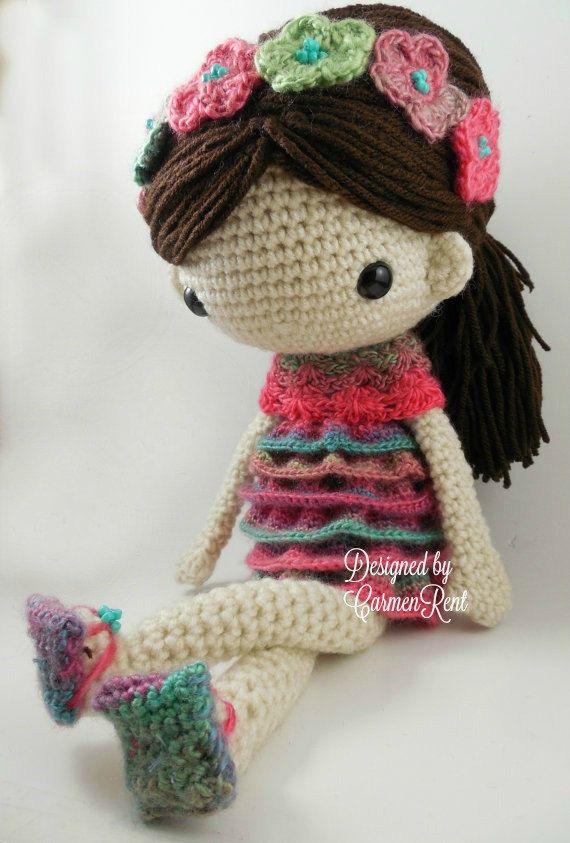 Vistoso Patrones De Crochet La Muñeca De La Cama Foto - Manta de ...