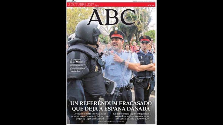 #Terrorismo #Noticias Lunes 2 Octubre 2017 Principales Titulares Portadas Diarios Periódicos España Spain #News: Principales Titulares de…