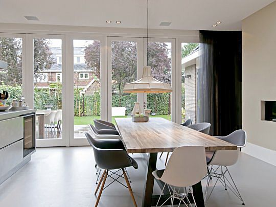 Uitbouw aan achterzijde jaren 30 woning idee n voor het huis pinterest living rooms and room - Huis exterieur model ...