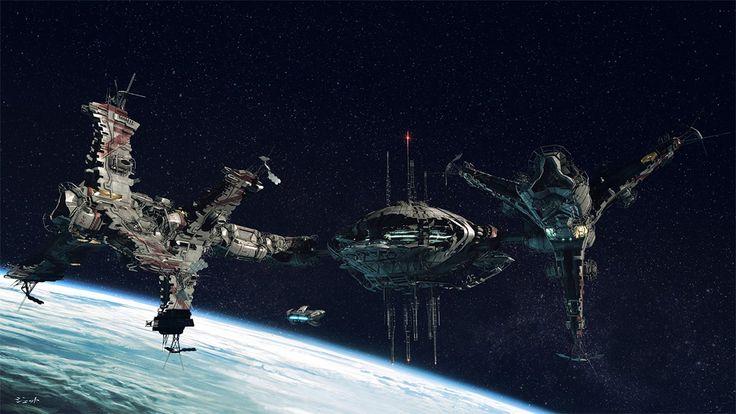 kavramı süresi: Dmitry Popov tarafından Uzay istasyonu kavramı