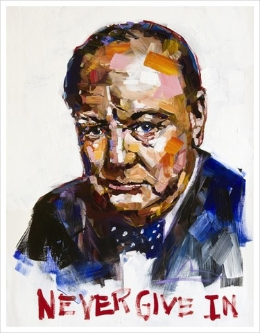 Churchill, Never Give In  by: Steve Penley