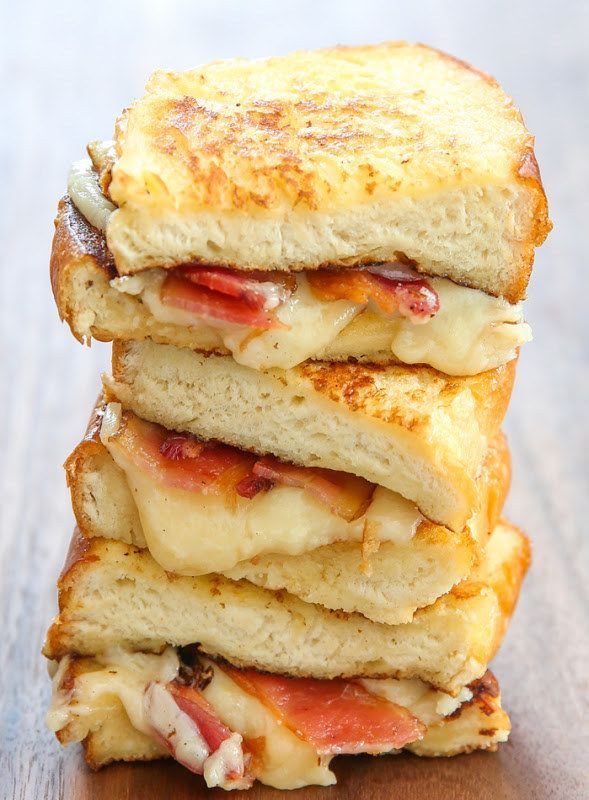French Toast Grilled Cheese Breakfast Sandwich