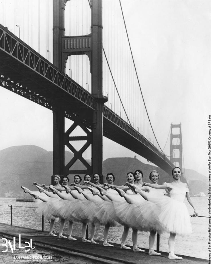 San Francisco Ballet dancers pose under the