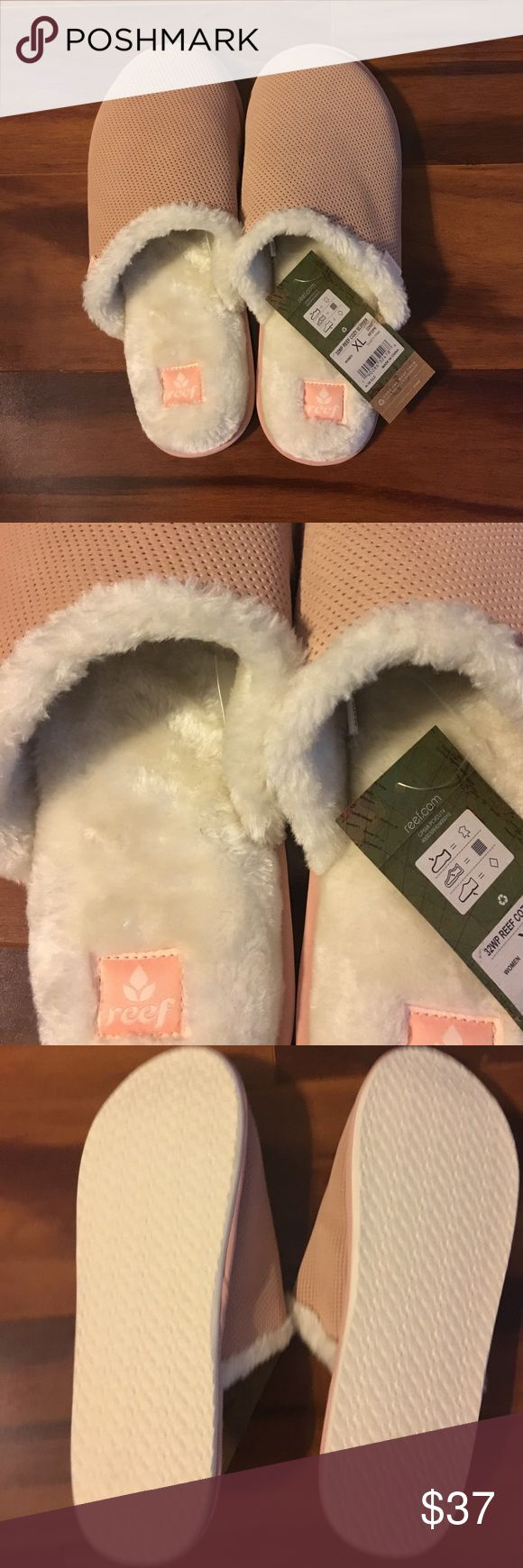 Ladies Dusty Pink Reef XL Slippers NWT NWT XL Ladies Reef Slippers Reef Shoes Slippers