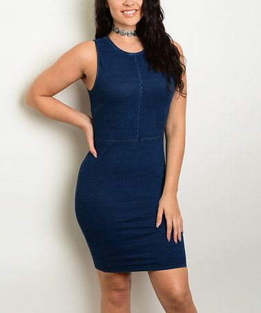 Look at this #zulilyfind! Denim Bodycon Dress - Plus #zulilyfinds