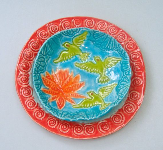 Small Decorative Plates Sets: Small Plate Set, Dessert Appetizer Plate And Coaster Set