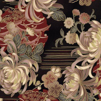 Robert Kaufman Fabrics: HRK-551102L-6 from Hyakkaryouran Sateen