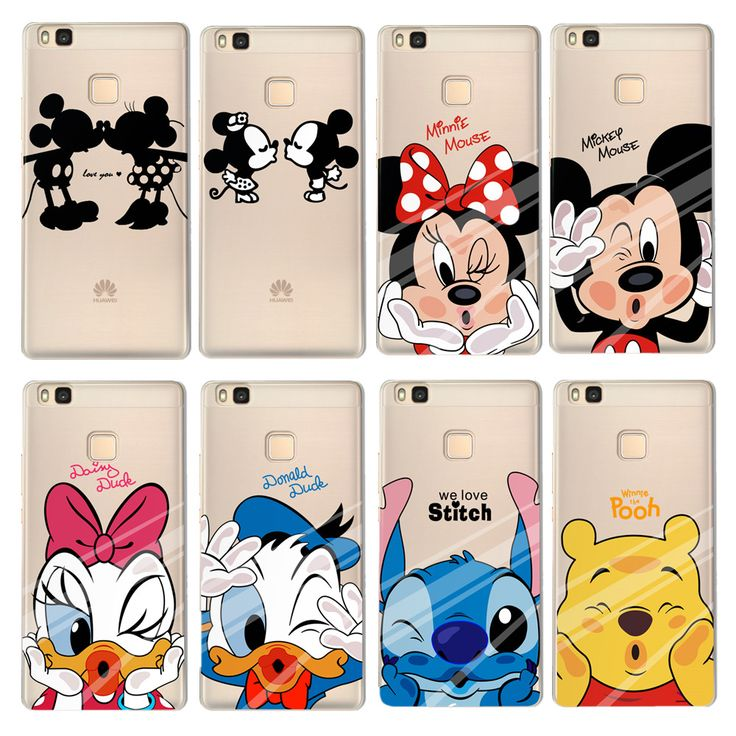 For Coque Huawei Ascend P8 Lite P9 Lite Y3 II Y5 II Case Lovely Mickey Minnie Soft TPU Cover For Fundas huawei P8mini Phone Case