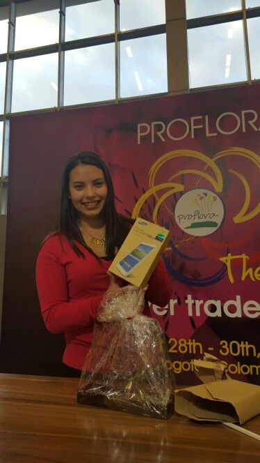 And the Best Florverde Mobile Reporter of #Proflora2015 with 72 likes is... Laura Nieto from Cámara y Comercio de Bogotá! Congrats! Thank you all other participants for give us a chance to take a cool picture of you and being part of Florverde during the fair!