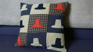 Welsh Hat Patch Style Decorative Cushion.  welshhatcrafts.bigcartel.com