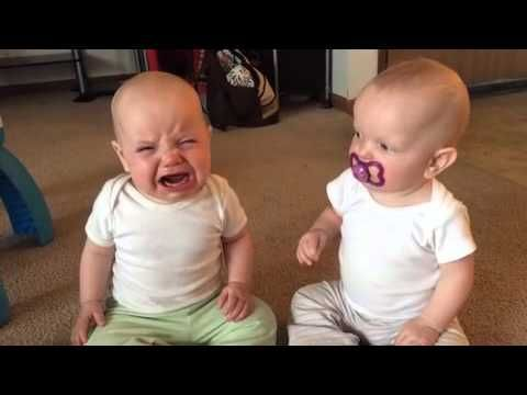 Twin baby girls fight over pacifier.  It is safe to say that we are born in sin.  Here is a prime example of coveting.