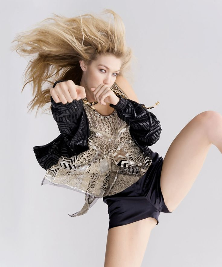 gigi hadid gilles bensimon4 Gigi Hadid Poses for Daily Front Row, Says She Doesnt Want to be a Reality TV Star
