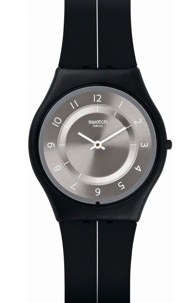 reloj swatch hombre my silver black sfb