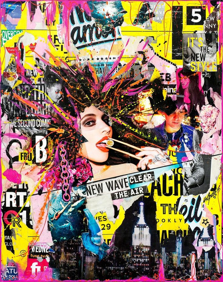 Fru bugge new wave 2015 available collage art