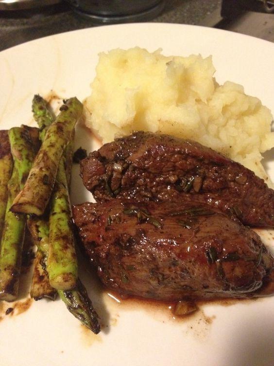 Balsamic, Rosemary and Garlic Kangaroo with Parsnip Mash | fastPaleo Primal and Paleo Diet Recipes