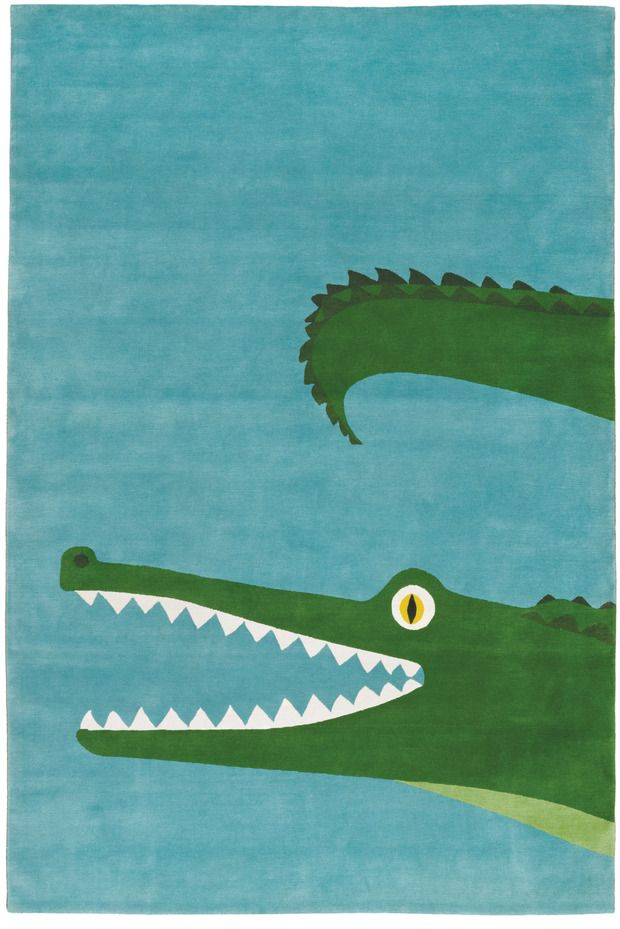 Alfombra con dibujo de cocodrilo de The Rug Company
