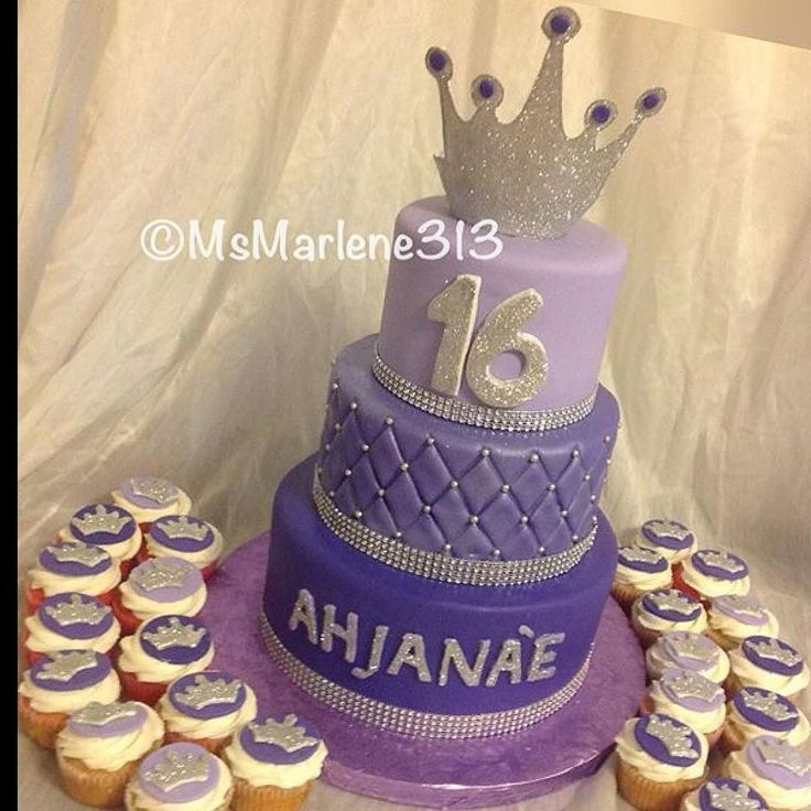 3 Tiered Shades of Purple Sweet 16 Cake with Quilted Tier and Bling and Matching Cupcakes by #msmarlene313 #3134631459 #3tieredcake #shadesofpurple #sweet16cake #quiltpattern #purplepassion #customcakesbymsmarlene #cakelady313 #cakequeenmarlene #customcakes313 #customcakesdetroit #detroitscakelady #detroitcustomcakes #designercakesdetroit #detroitcakes #madeindetroit #313 #msmarlene313