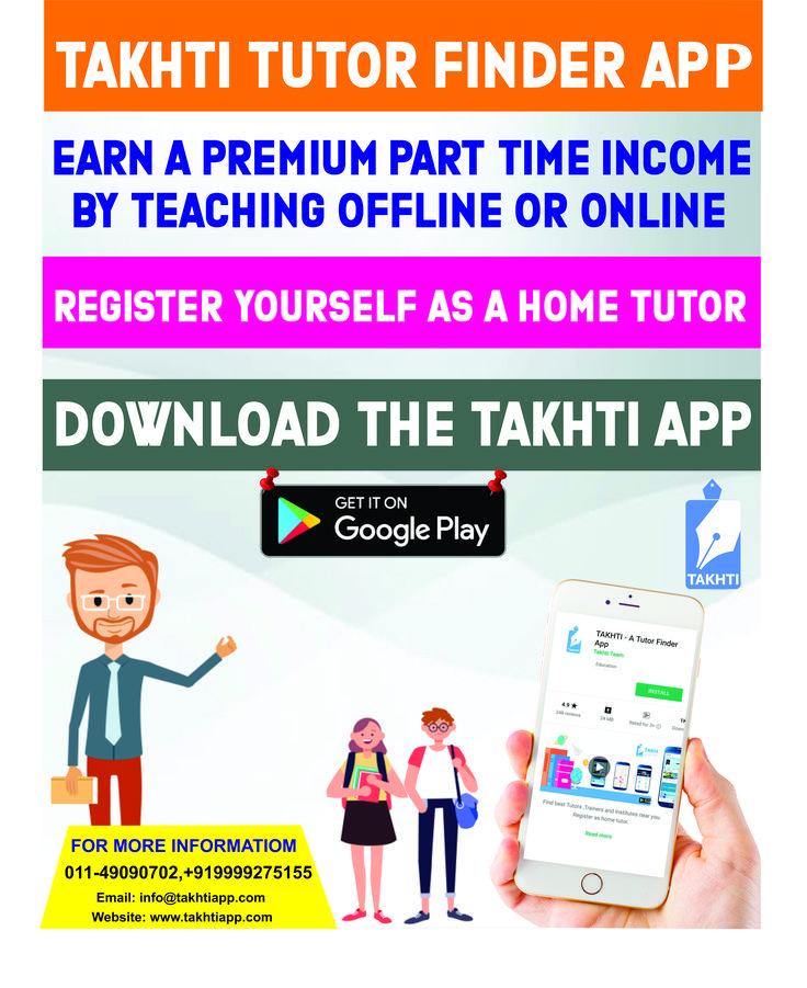 TAKHTi Best Tutor Finder App Jobs for teachers, Online