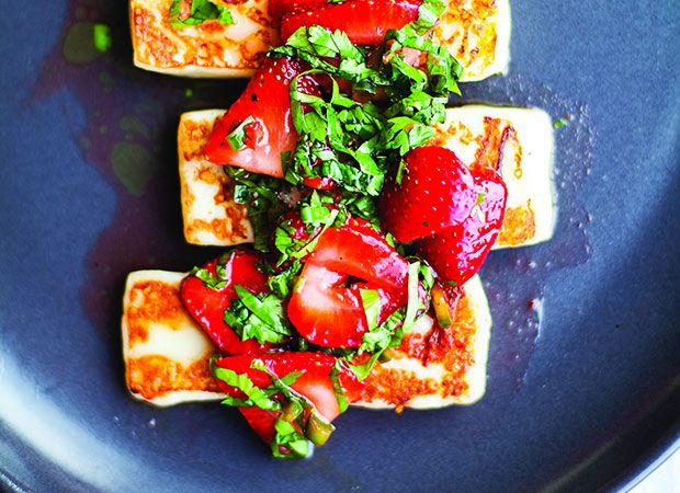 Six O'Clock Solution: Halloumi cheese, strawberries a hot combination