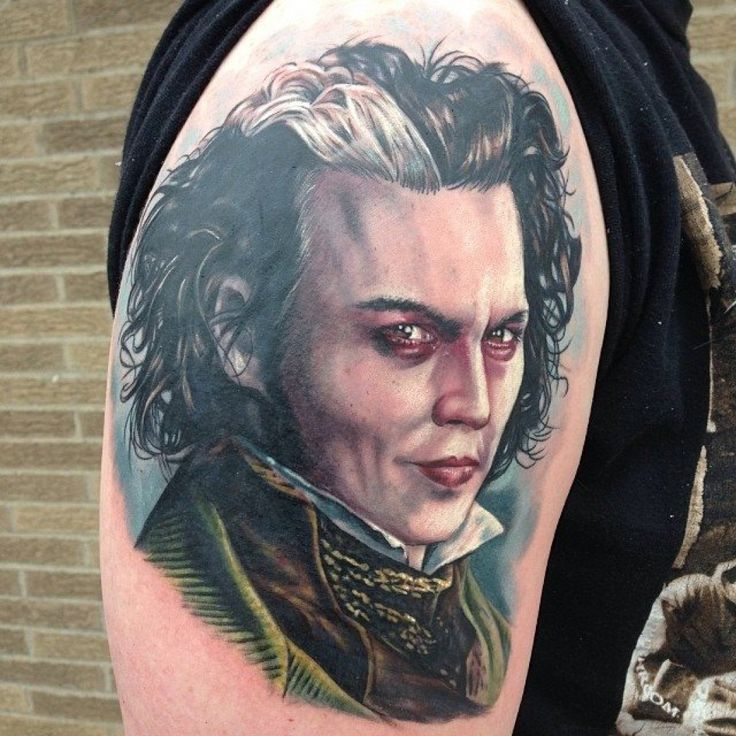 17 best images about portrait tattoos on pinterest for Sweeney todd tattoo