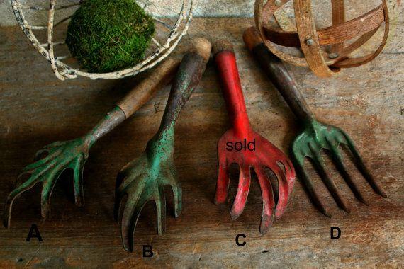 vintage garden hand tools cultivator vintage by vintagearcheology