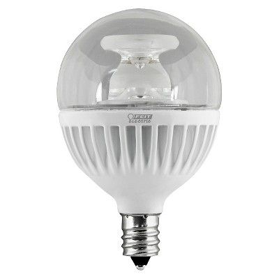 Feit 60-Watt G16 Candelabra Base Led Light Bulb - Soft White